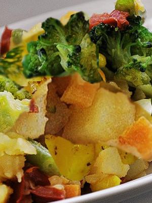 Диетический картофели с брокколи