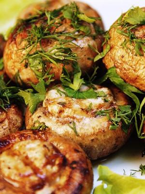Блюда на мангале рецепты грибы