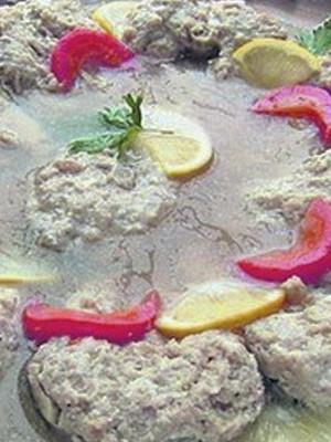 """Пошаговый рецепт блюда из щуки - """"Рубиновое заливное"""""""
