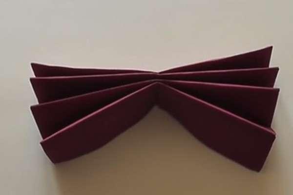 Получаем красивый двухсторонний «веер»
