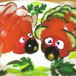 Красивая нарезка из огурцов и помидоров
