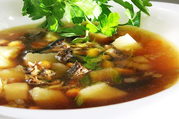 Суп картофельный с грибами