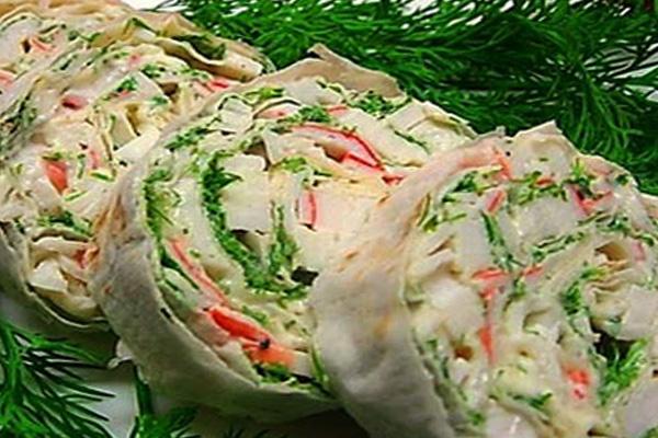 Начинки для лаваша с крабовыми палочками рецепты с пошагово