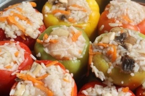 фаршированный перец классический рецепт с фото пошагово