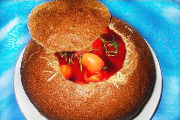 Красный борщ - рецепт с пампушками