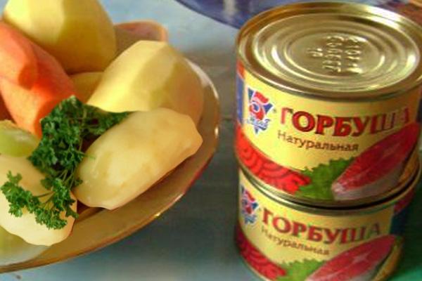 Суп из консервы горбуша