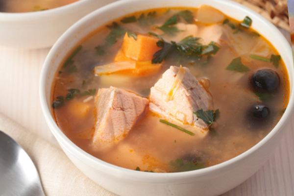 Рецепт супа из консервы горбуша
