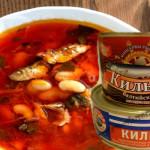 Суп из консервой в томате