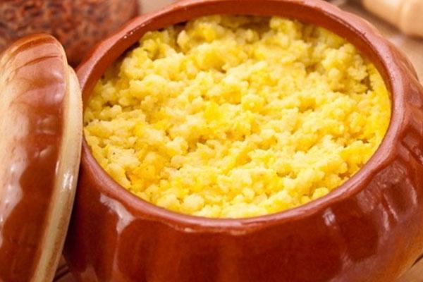 Пшенная каша - детское блюдо из тыквы
