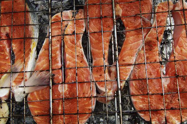 Семга на гриле маринад