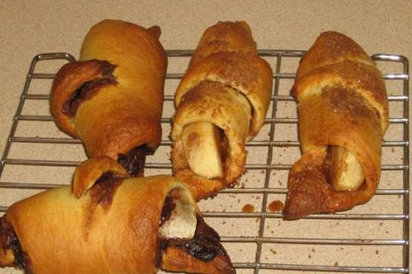 На завтрак - банановые рогалики