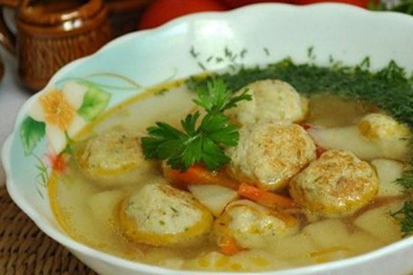 Суп из семгой с фрикадельками
