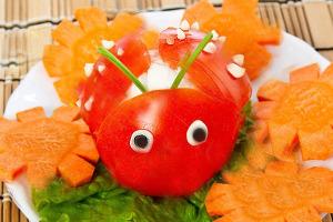 Украшение салатов на детский праздник