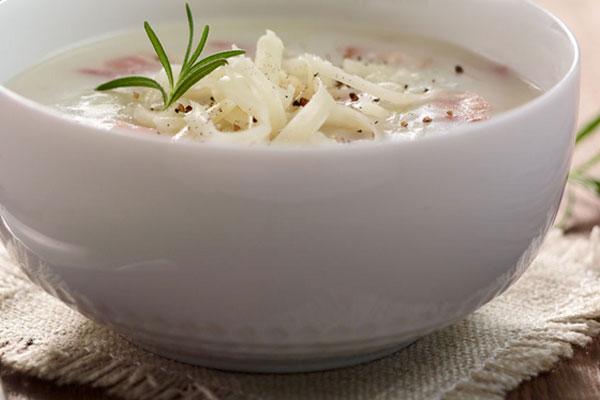 Молочный суп, как вариант желчегонного завтрака