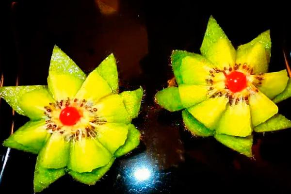 Цветок из киви своими руками