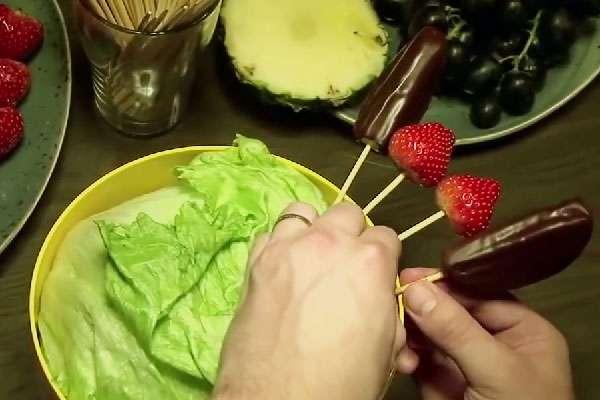 Как сделать фруктовый букет своими руками