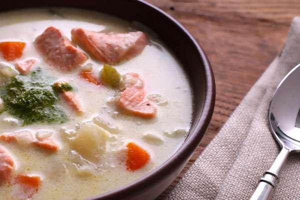 Суп пюре с семгой