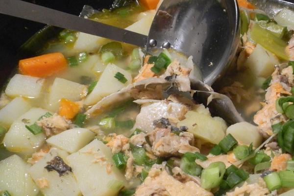 Первое блюдо из семги