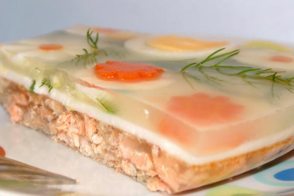 Заливное из супового набора из семги