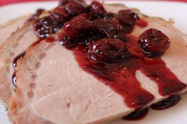 Соус из вишни к мясу