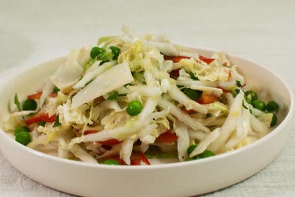 Салат из китайской капусты со сливочной заправкой
