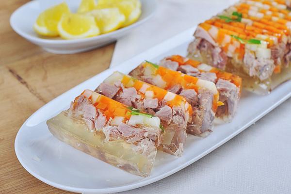 Украшения заливных блюд
