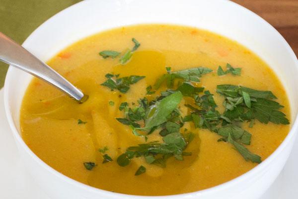 Диетический суп-пюре из чечевицы