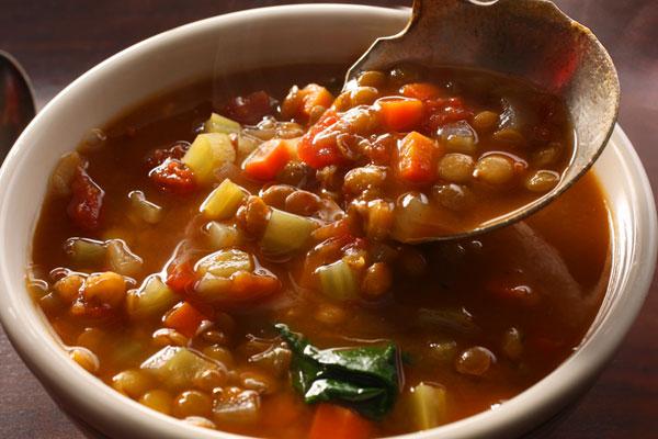 Готовим вкусное блюдо из чечевицы - суп копченый