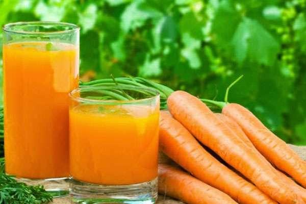 вас есть свежий морковный сок в народной медицине почти