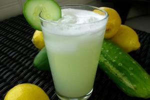 Огуречный лимонад с мятой