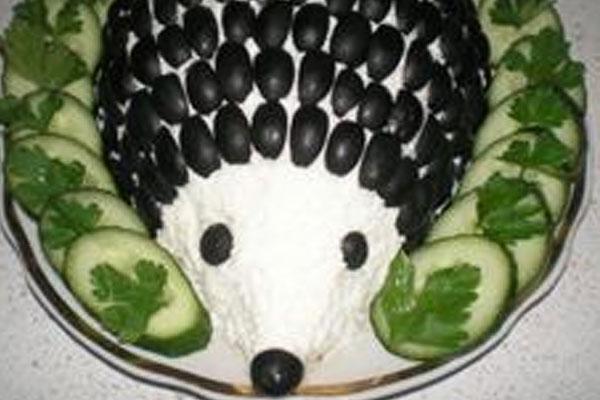 Салат ёжик рецепт с фото с ананасом