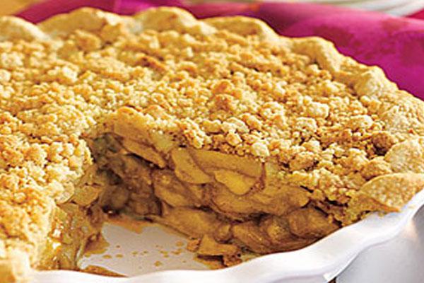 Яблочный пирог без выпекания
