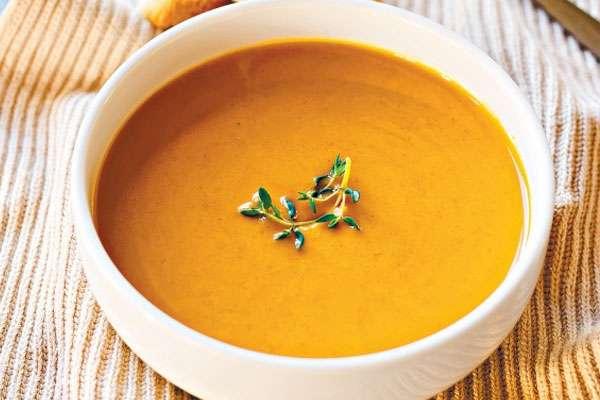 Французский суп из тыквы для сыроедения