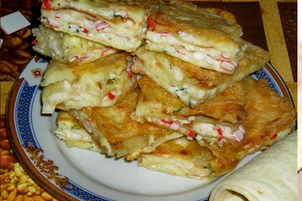 Горячие бутерброды из лаваша на сковороде рецепты 11