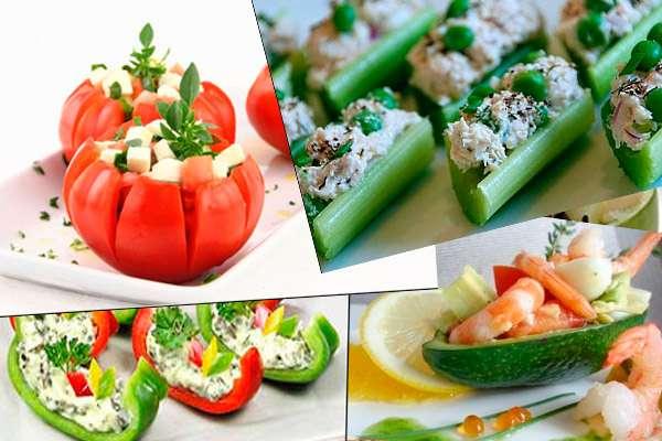 Как оформить порционное оформление новогодних салатов