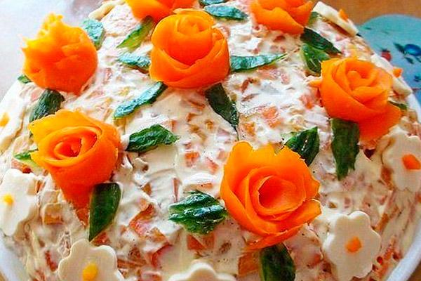 Недорогие салаты с майонезом рецепты