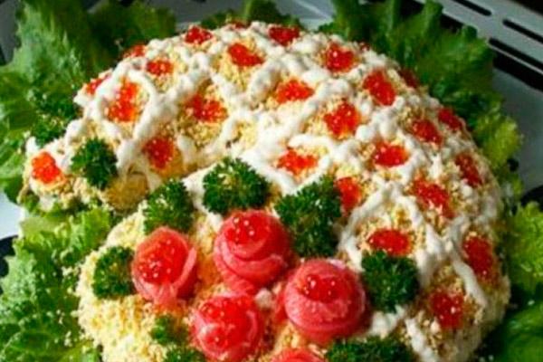 Рецепт Салат с   russianfoodcom