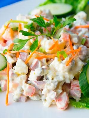 салат оливье из говядины классический рецепт