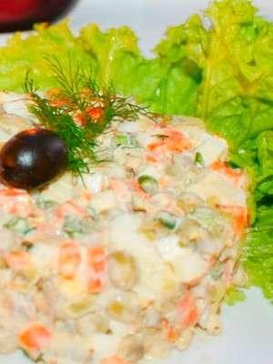 рецепты салатов оливье из языка говяжьего