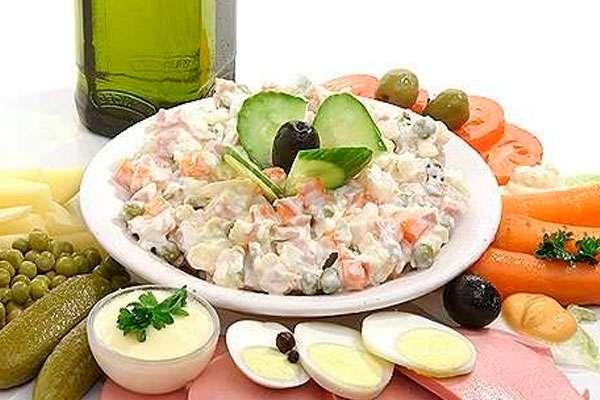 рецепты салатов из нескольких видов мяса