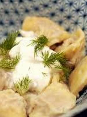 Пельмени с картошкой и адыгейским сыром - классический рецепт