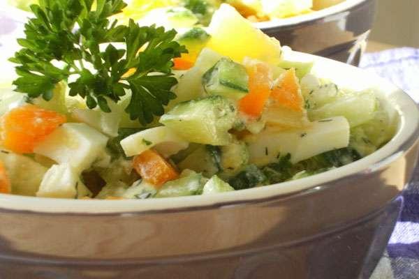 Рецепт постного салата на новый год
