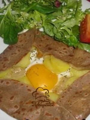 Французские блины из гречневой муки - домашний рецепт