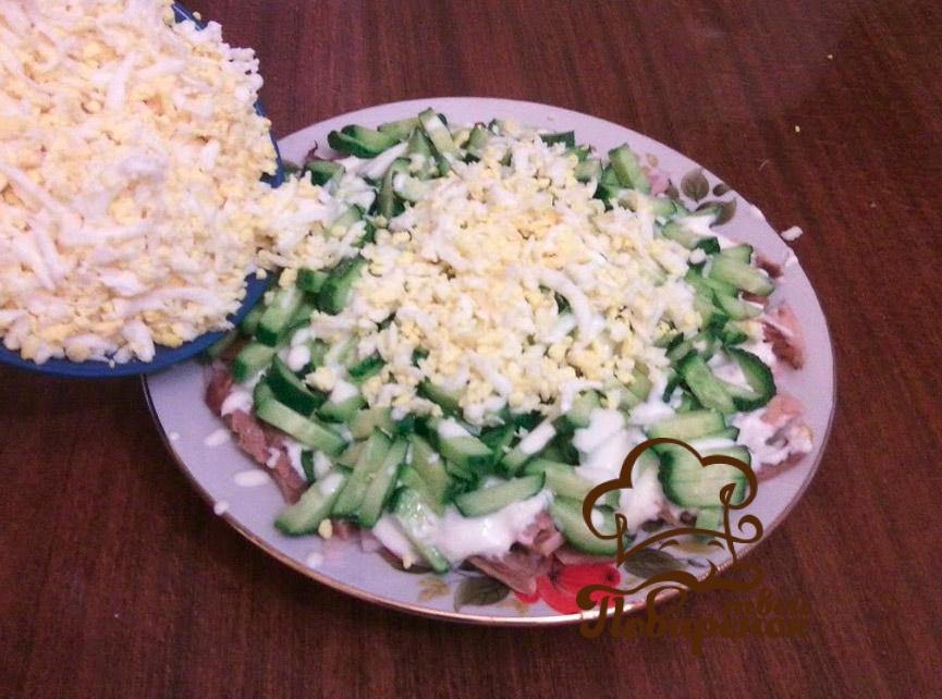 Салат гнездо перепелки пошаговый рецепт с фото