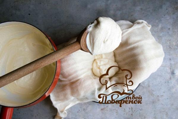 Домашний сыр маскарпоне - рецепт со сливками