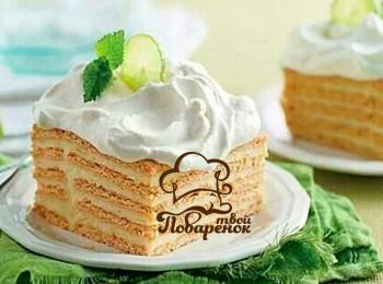 Торт из лаваша сладкий пошаговый рецепт