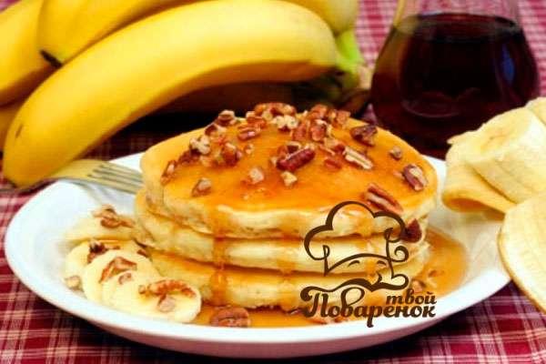 Как приготовить панкейки с бананом