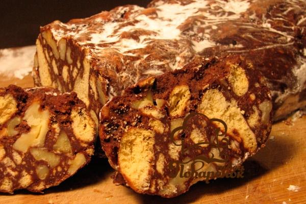 Как правильно приготовить колбаски из шоколада с печеньем