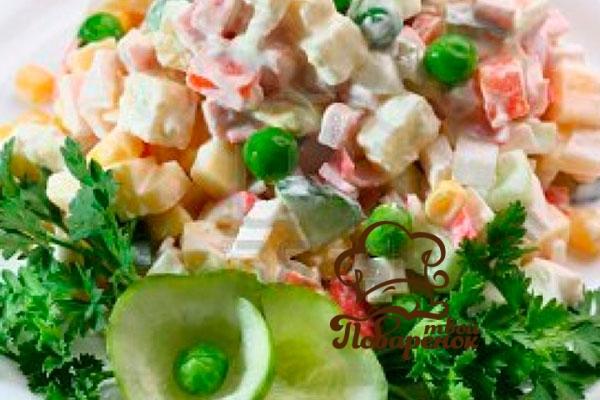 Салат с консервированным горошком  95 рецептов с фото