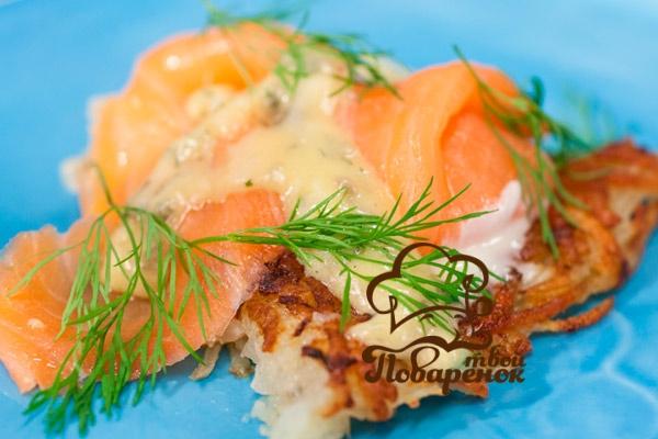 Домашний рецепт салата с блинчиками из яиц